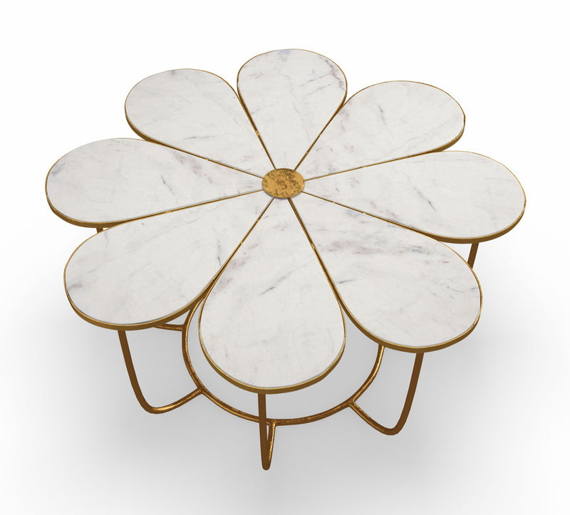 Flower Marble Coffee Table