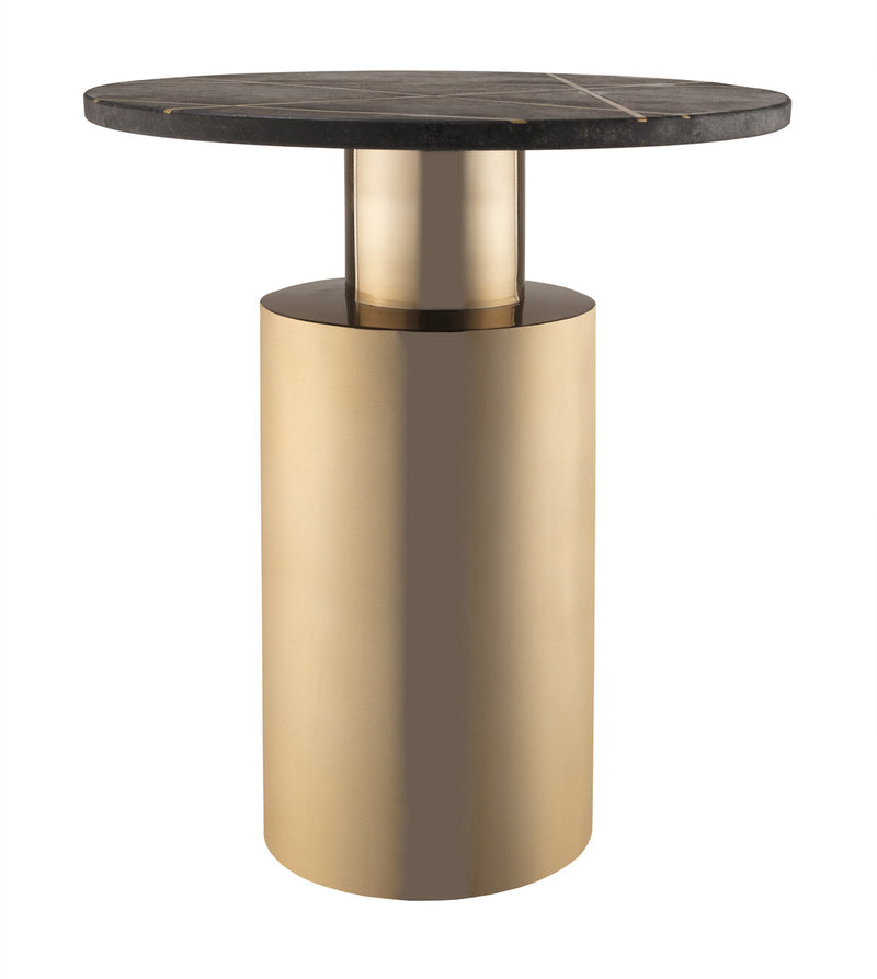 Terzo Black Marble Side Table