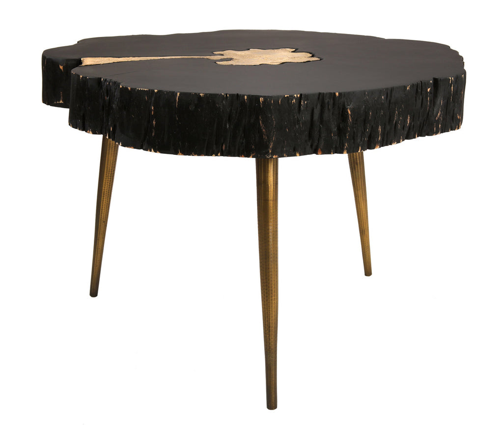 Timber Black and Brass Coffee Table