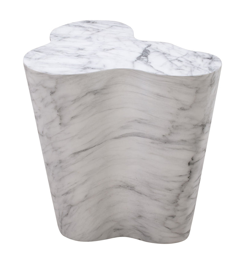 Slab Marble Tall Side Table