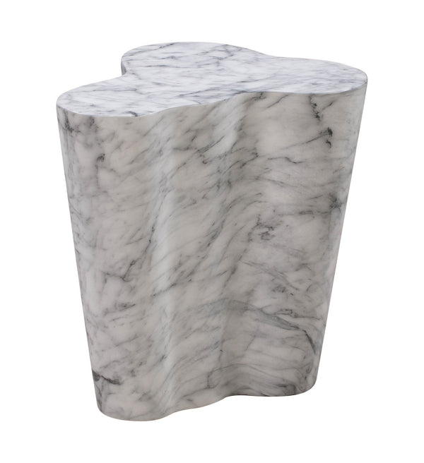 Slab Marble Short Side Table