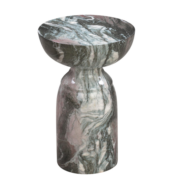 Rue Grey and Blush Marble Side Table