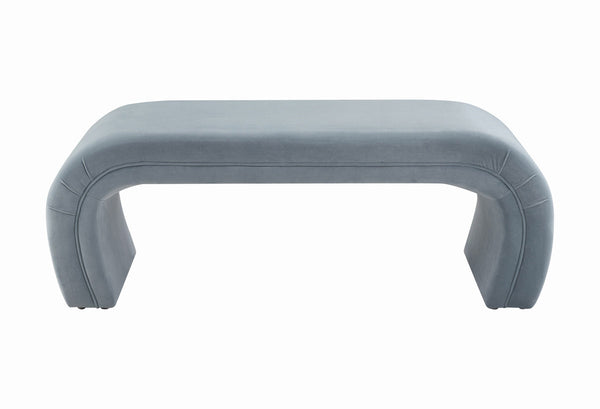 Kenya Sea Blue Velvet Bench