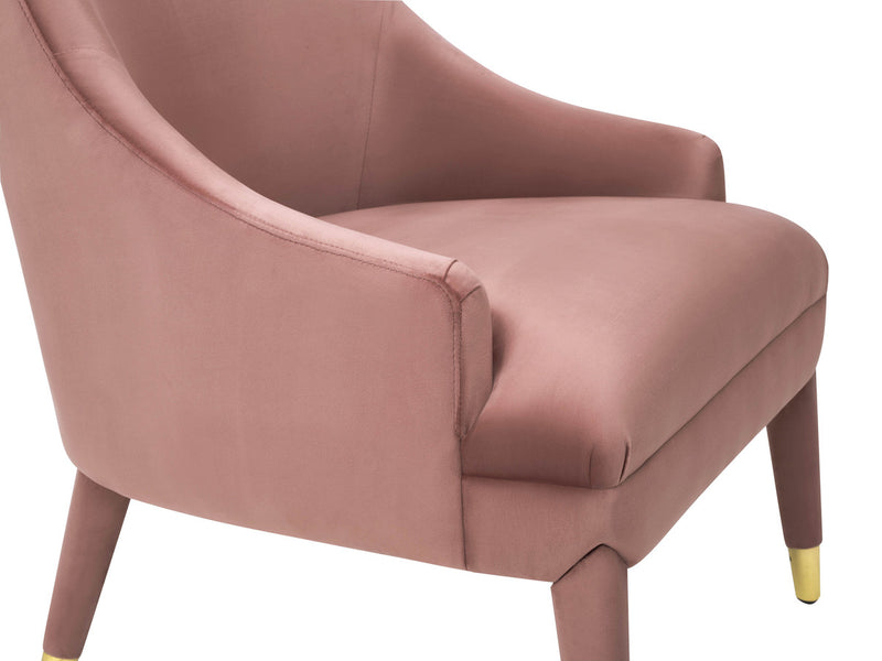 Orchid Velvet Accent Chair