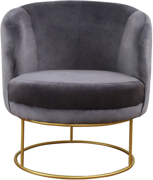 Bella Grey Velvet Accent Chair