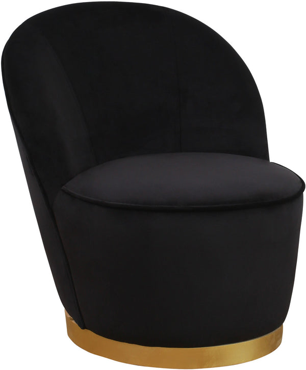 Julia Black Velvet Junior Accent Chair