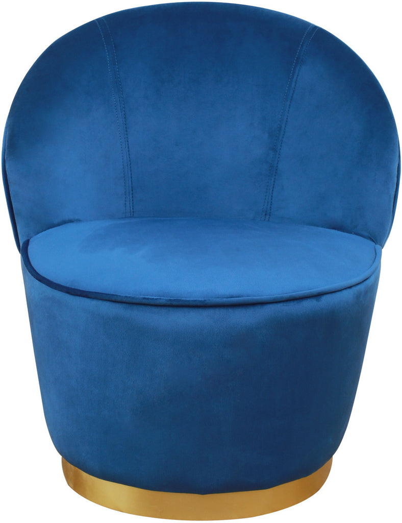 Julia Navy Velvet Junior Accent Chair