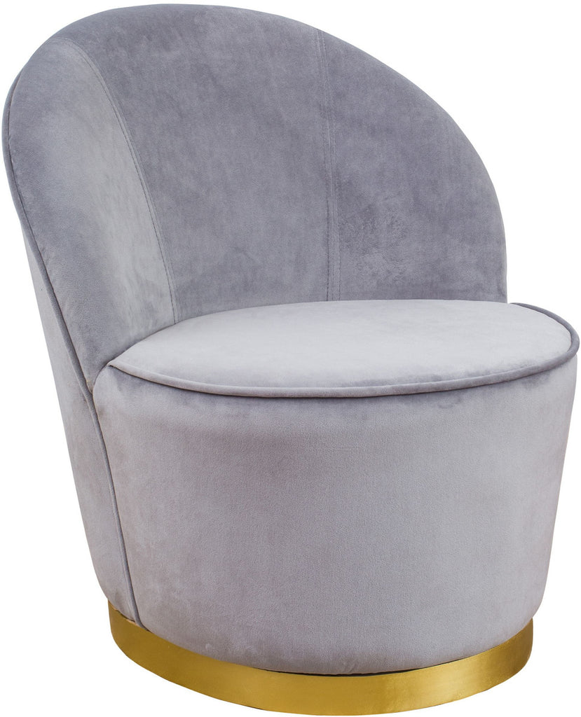 Julia Grey Velvet Accent Chair