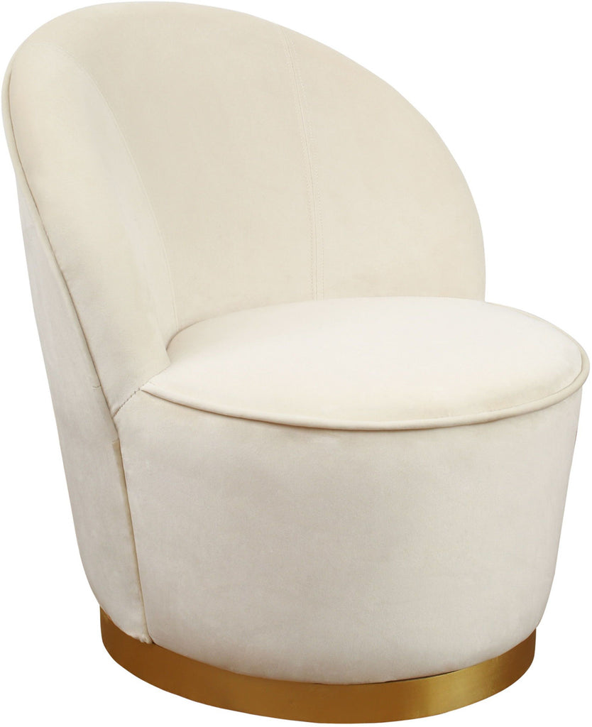 Julia Ivory Velvet Accent Chair