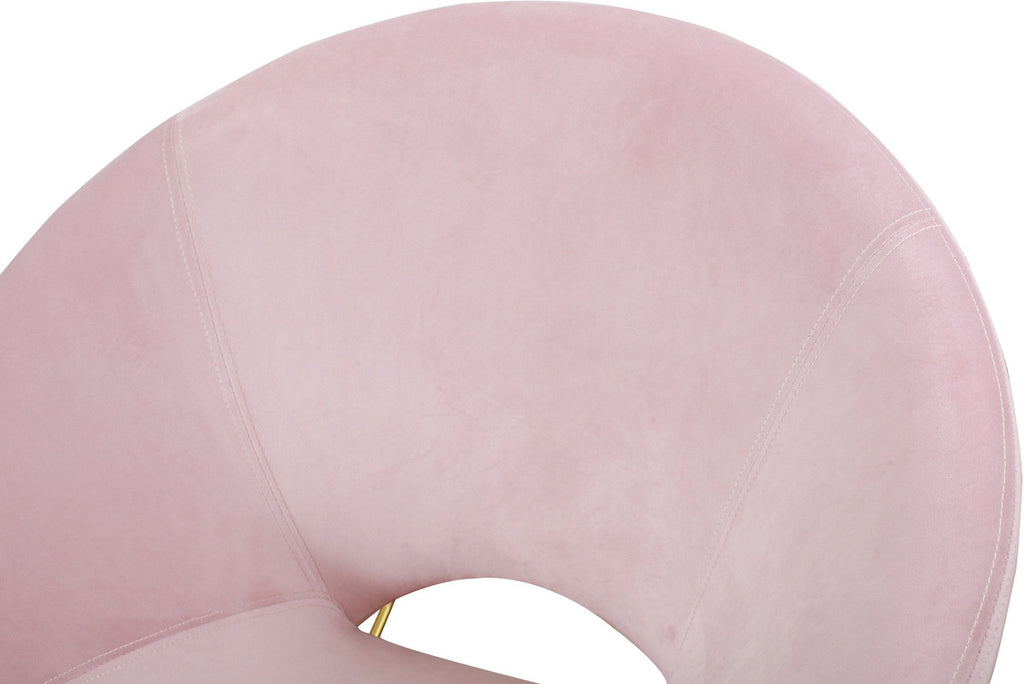 Nolan Blush Velvet Accent Rocking Chair