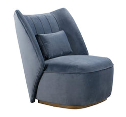 Reiko Cascadia Blue Lounge Chair