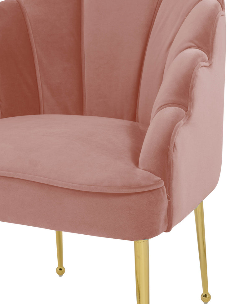 Daisy Petitie Blush Velvet Accent Chair