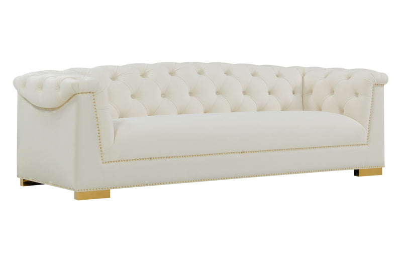 Farah Cream Velvet Sofa