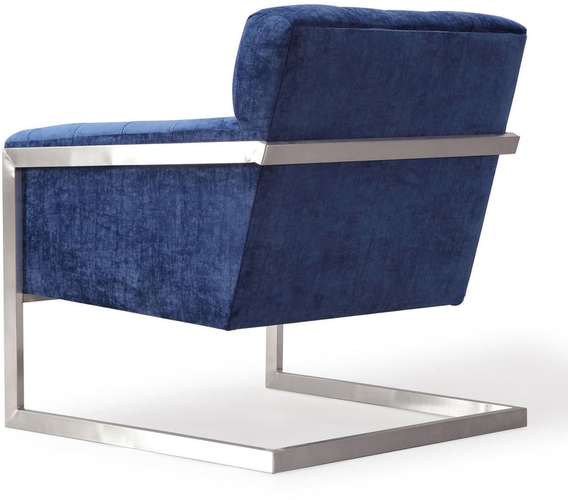 Moya Navy Velvet Accent Chair