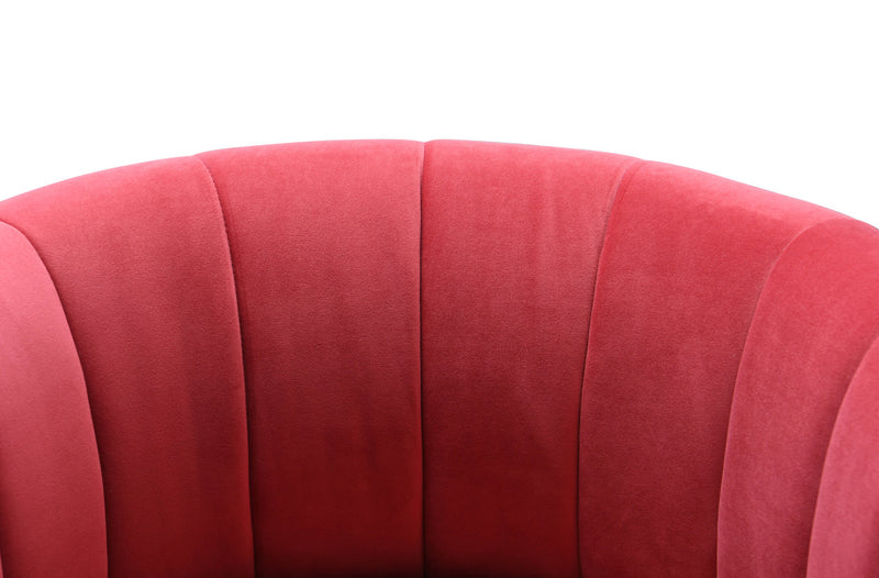 Magnolia Hot Pink Velvet Accent Chair