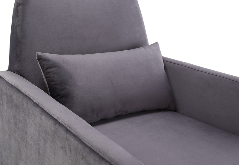 Danner Grey Velvet Accent Chair