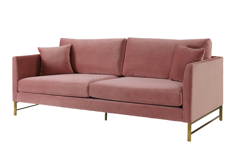 Massi Rose Velvet Sofa