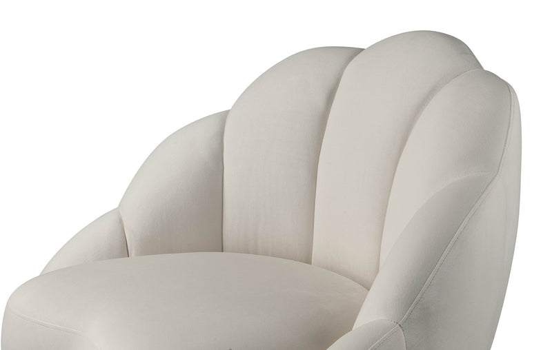 Bloom Cream Velvet Accent Chair