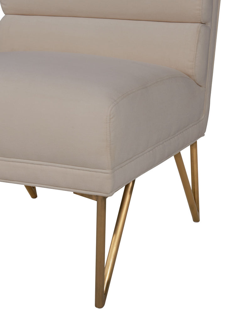 Kelly Cream Velvet Accent Chair