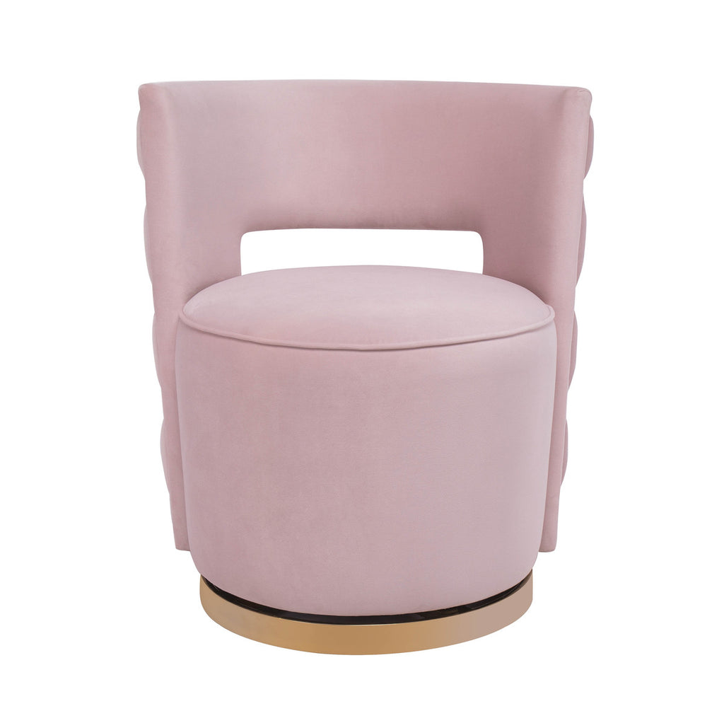 Mimosa Blush Velvet Swivel Accent Chair