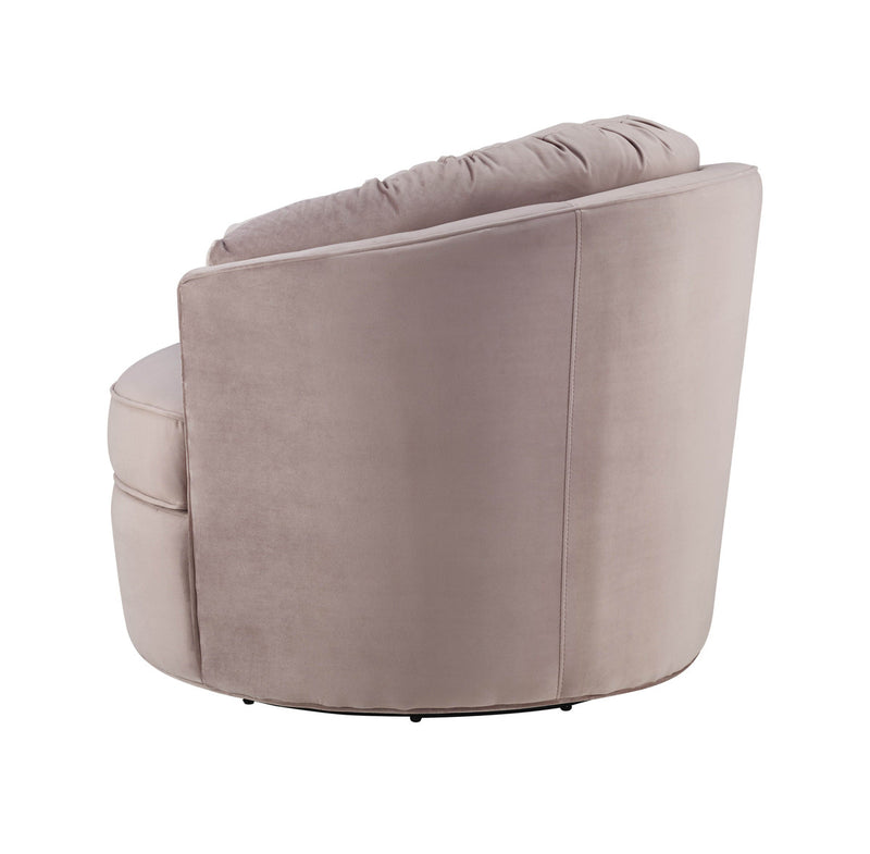 Eloise Mauve Velvet Swivel Accent Chair