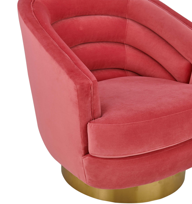 Canyon Hot Pink Velvet Swivel Accent Chair