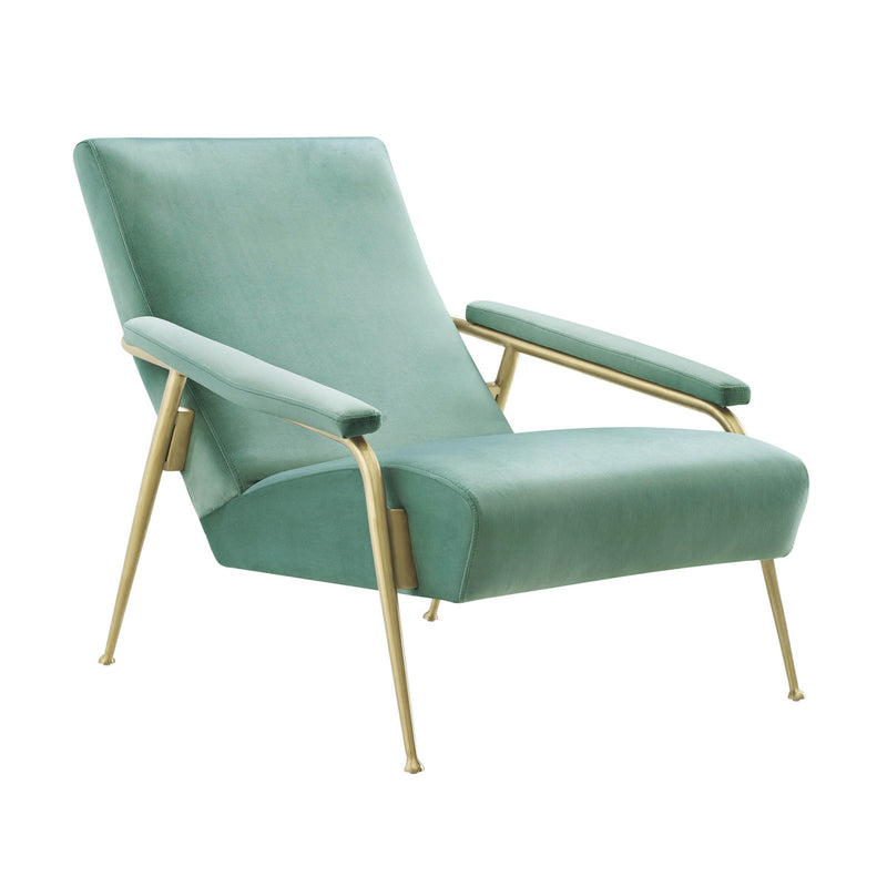 Abbey Mint Green Velvet Accent Chair