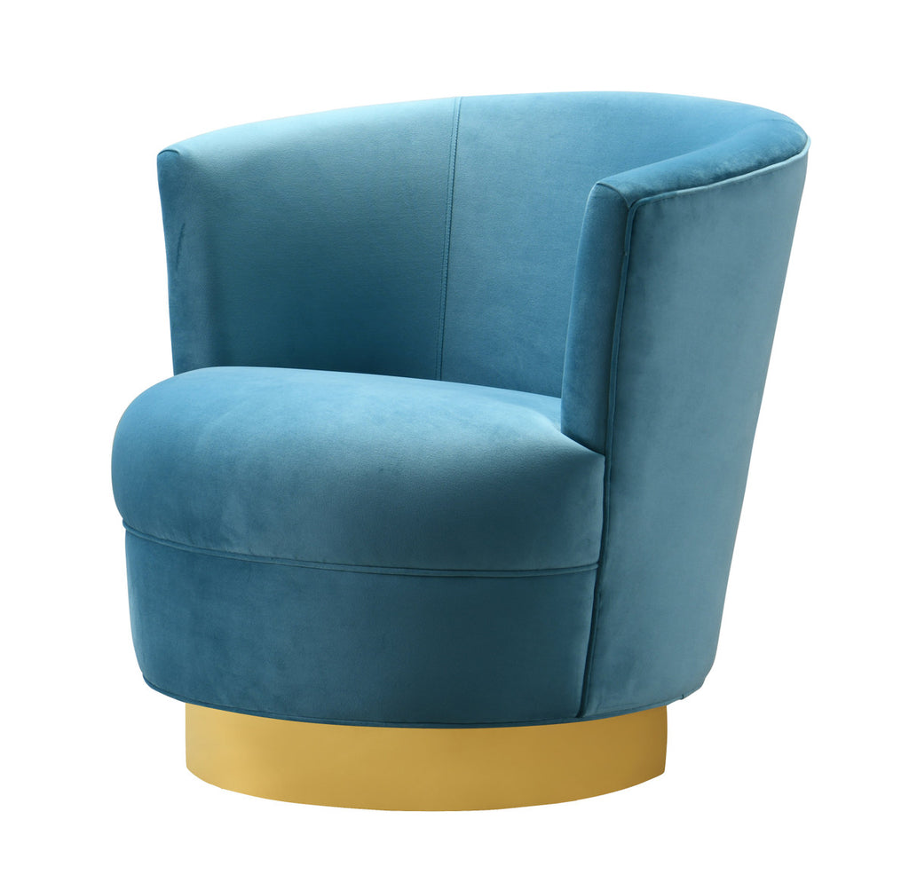 Noah Lake Blue Swivel Accent Chair