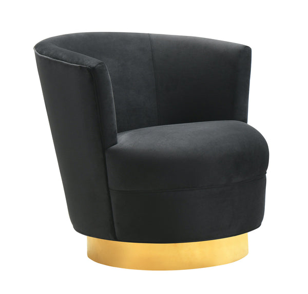 Noah Black Swivel Accent Chair