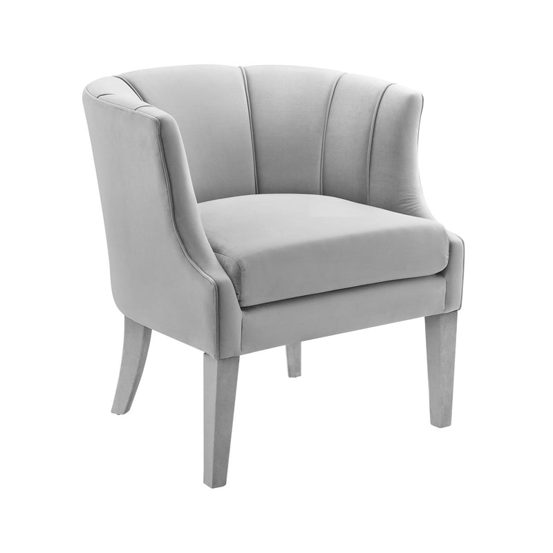 Turin Grey Velvet Accent Chair
