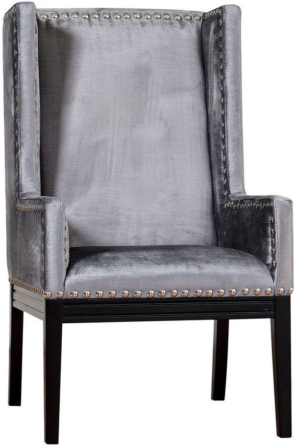 Tribeca Grey Velvet Accent Chair