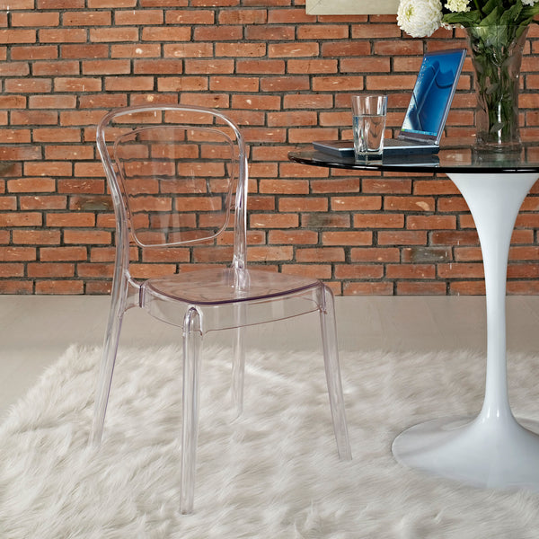 Entreat Dining Side Chair in Clear