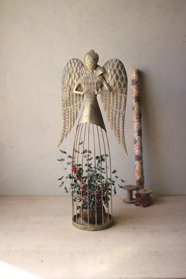 Tall Wire Christmas Angel