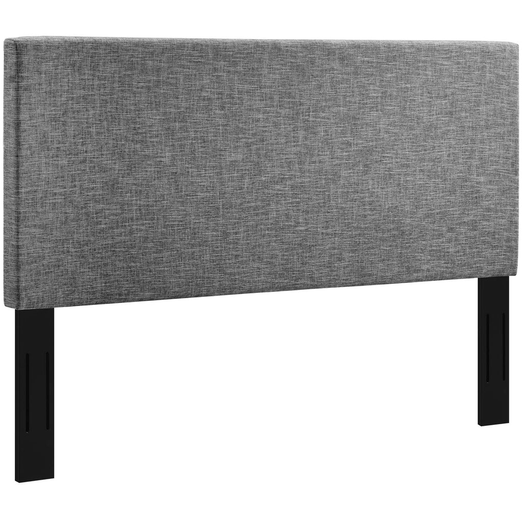 Taylor Twin Upholstered Linen Fabric Headboard - Light Gray