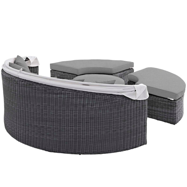 Summon Canopy Outdoor Patio Sunbrella Daybed - Canvas Gray