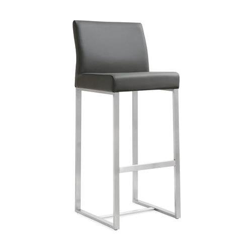 Denmark Grey Steel Barstool  (Set of 2)