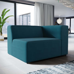 Mingle Fabric Right-Facing Sofa - Blue