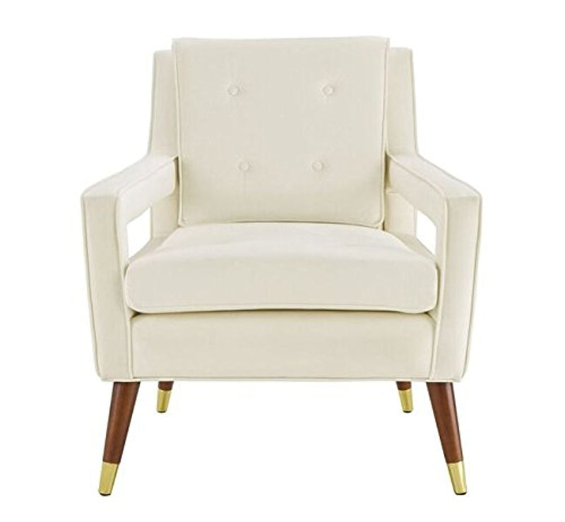 Draper Cream Velvet Chair