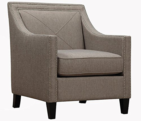 Asheville Light Grey Linen Chair