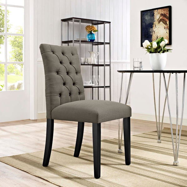 Duchess Fabric Dining Chair in Granite