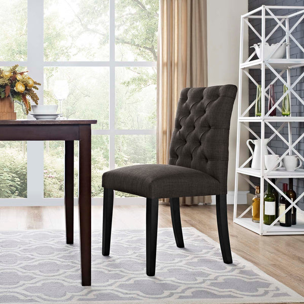 Duchess Fabric Dining Chair in Brown