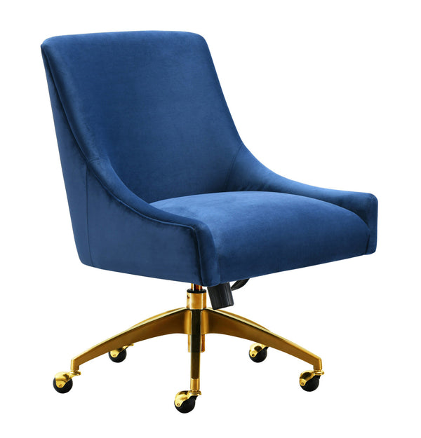 Beatrix Navy Office Swivel Accent Chair