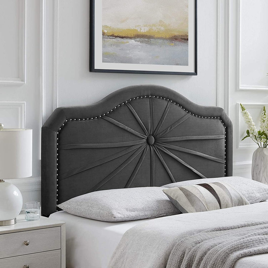 Kristin Pleated Performance Velvet King/California King Headboard