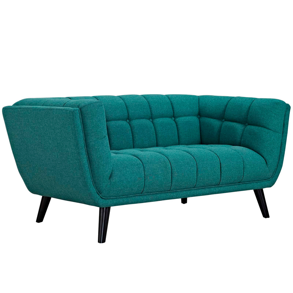 Bestow Upholstered Fabric Loveseat - Teal