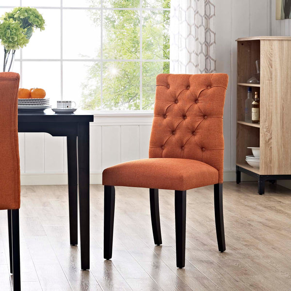 Duchess Fabric Dining Chair in Orange