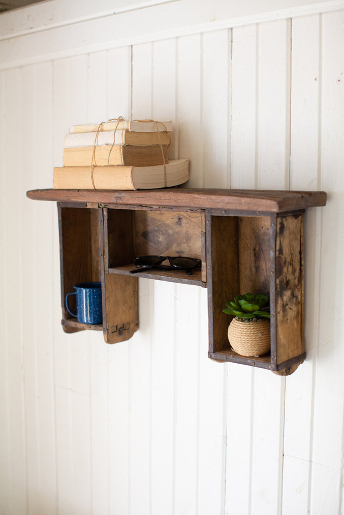 Repurposed Brick Mold Shelf