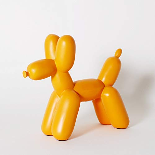 Balloon Dog Sculpture - Ceramic Dog Statues, Dog Figurine (Orange)