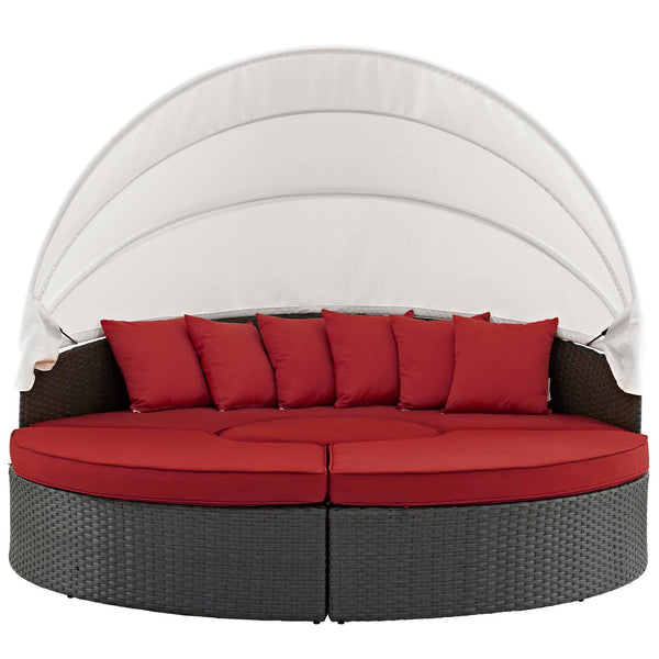 Sojourn Outdoor Patio Sunbrella Daybed - Canvas Red