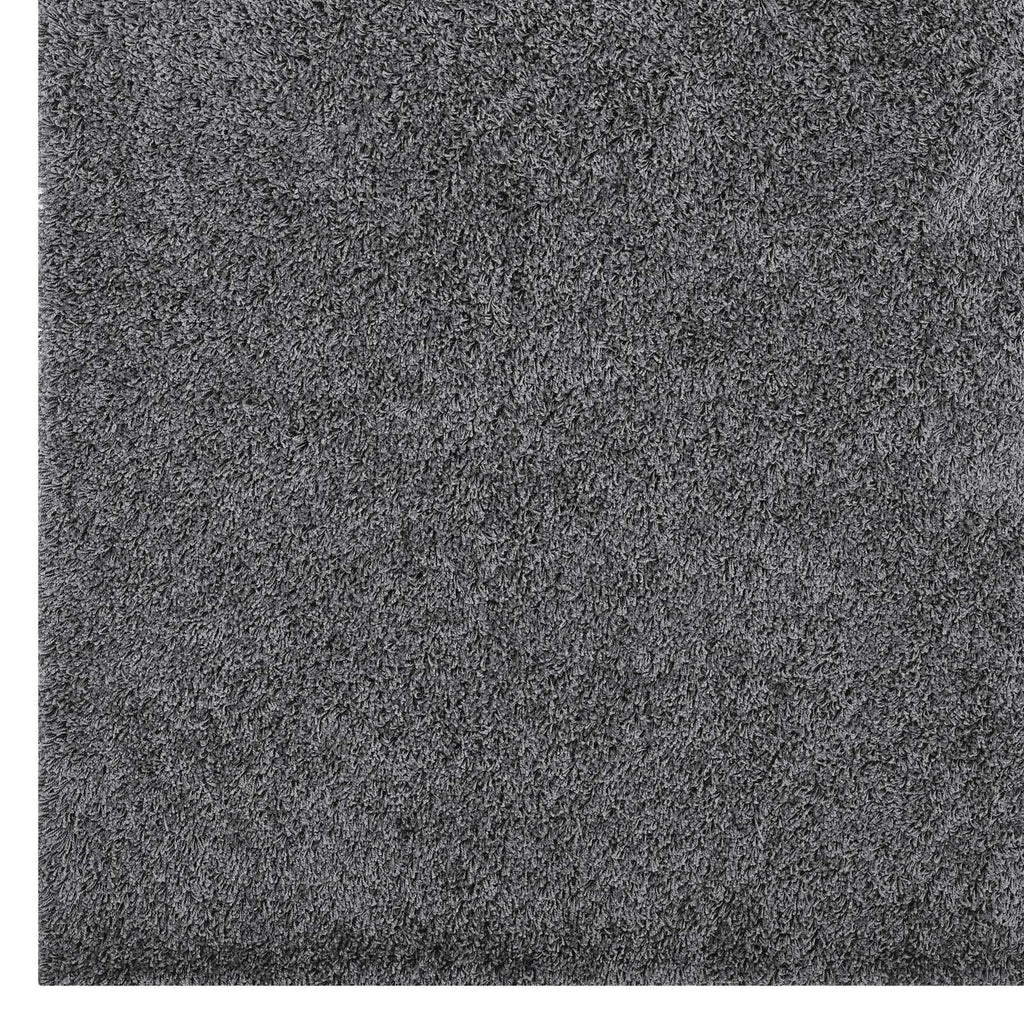 Enyssa Solid 8x10 Shag Area Rug - Dark Gray