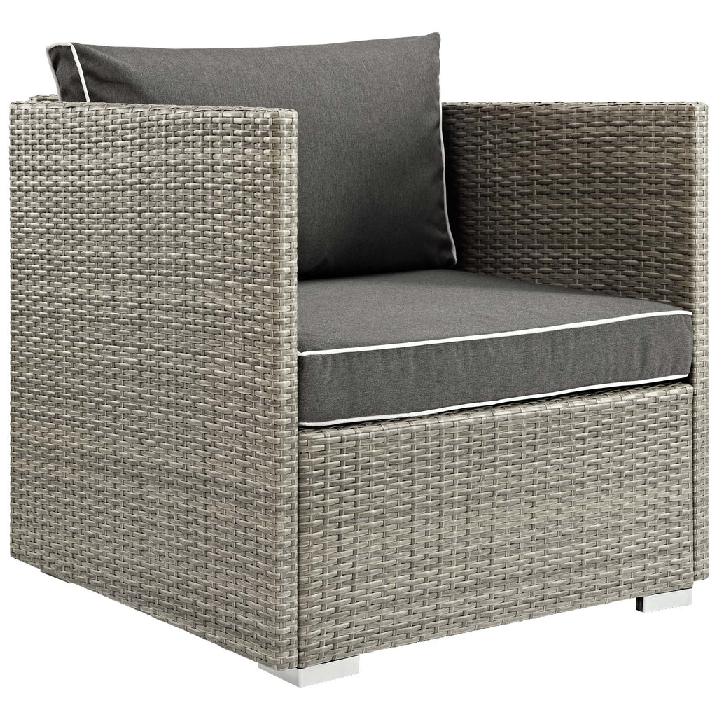 Repose 7 Piece Outdoor Patio Sectional Set - Light Gray Charcoal